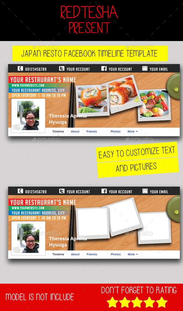 GraphicRiver Japan Resto Facebook Timeline 9695194