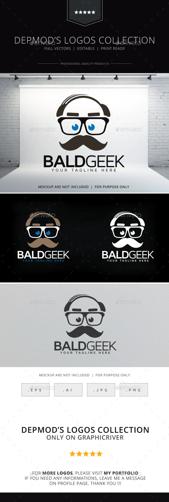 Bald Geek Logo