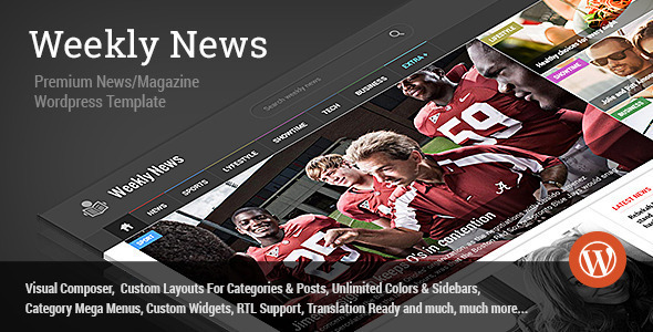 WeeklyNews - Premium WordPress News/Magazine Theme - News / Editorial Blog / Magazine