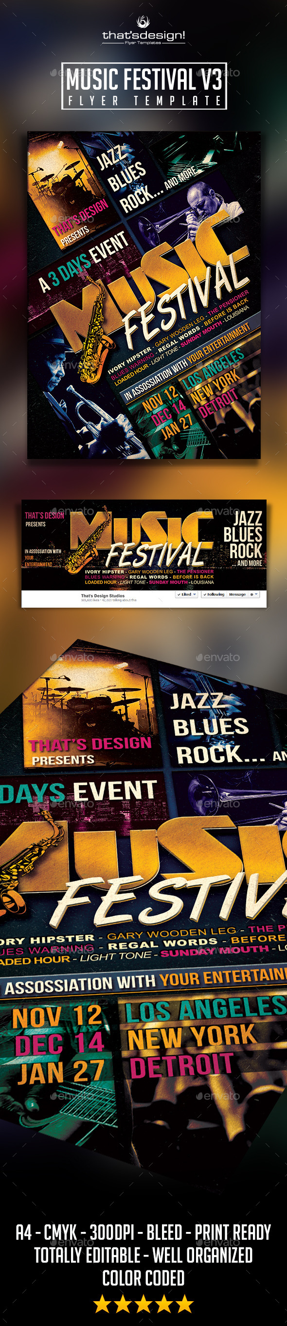 GraphicRiver Music Festival Flyer Template V3 9695475