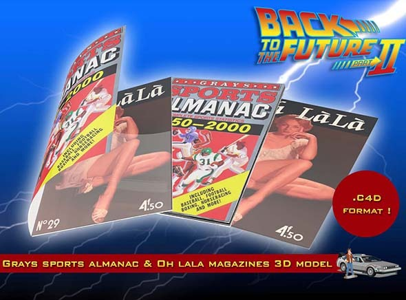 3DOcean Grays Sports Almanac & Oh Lala Magazines 9695548