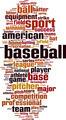 Baseball Word Cloud Concept - PhotoDune Item for Sale