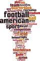 American Football Word Cloud Concept - PhotoDune Item for Sale