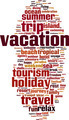 Vacation Word Cloud Concept - PhotoDune Item for Sale