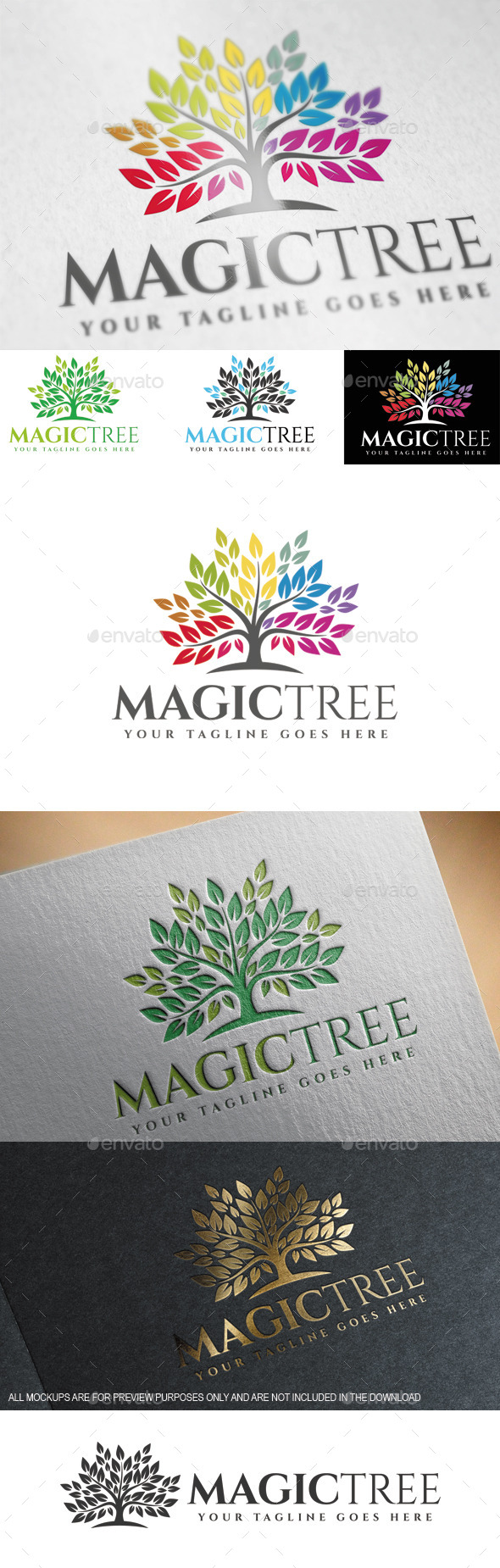 GraphicRiver Magic Tree Logo Template 9695732