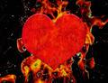 Heart on Fire Grunge Illustration - PhotoDune Item for Sale