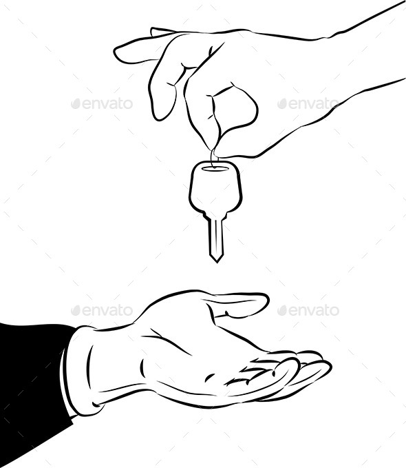 GraphicRiver Handing Over the Key 9695844