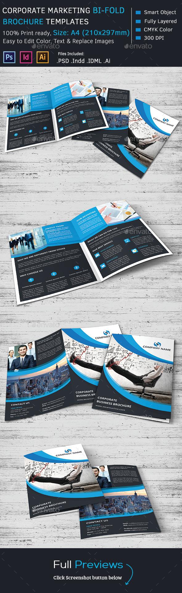 GraphicRiver Corporate Marketing Bi-Fold Brochure 9695854