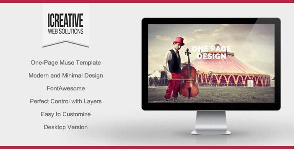 ThemeForest iCreative Portfolio Muse Theme 9695857