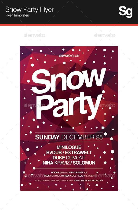 GraphicRiver Snow Party Flyer 9695865