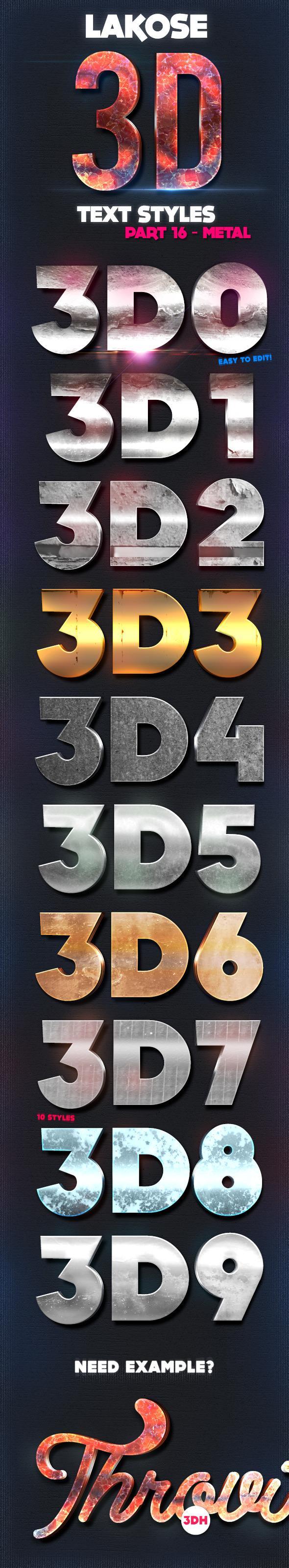 GraphicRiver Lakose 3D Text Styles Part 16 9695871
