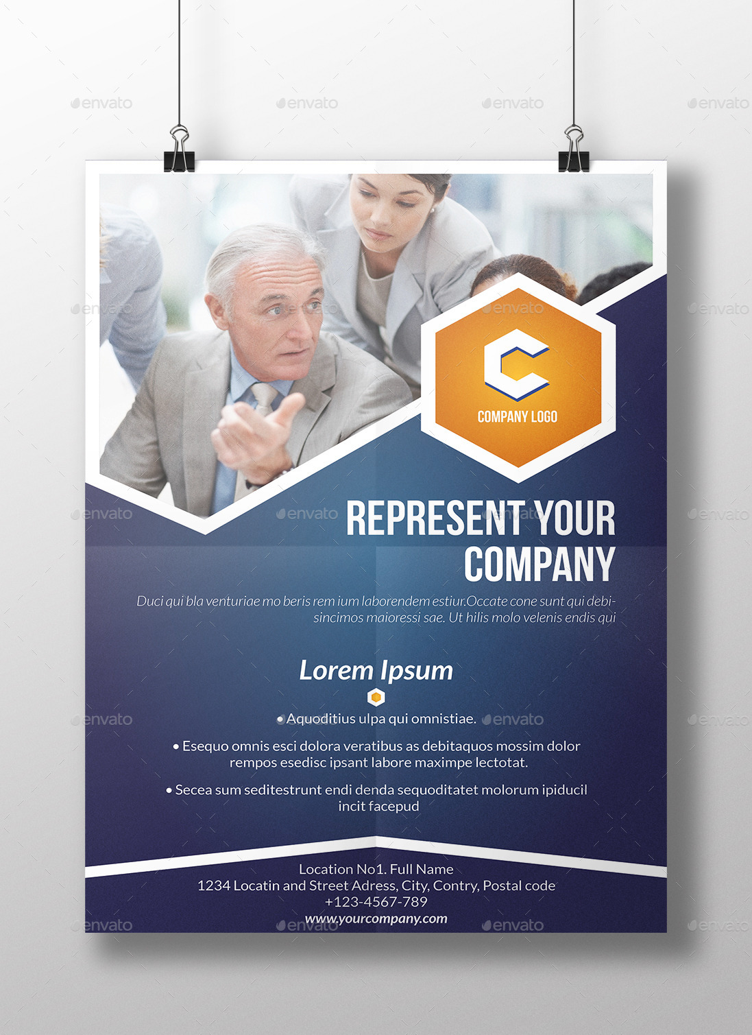 informational poster brochure template by milos83