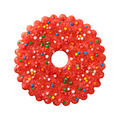 Round Red Christmas Cookie - PhotoDune Item for Sale