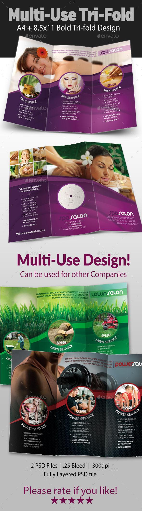 GraphicRiver Multi-use Tri-fold Flyer 9696190