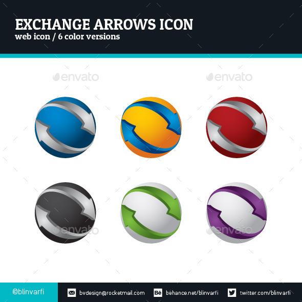 Exchange Arrows Icon - Web Icons