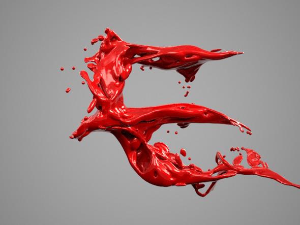 Alphabet Liquid: E - 3DOcean Item for Sale