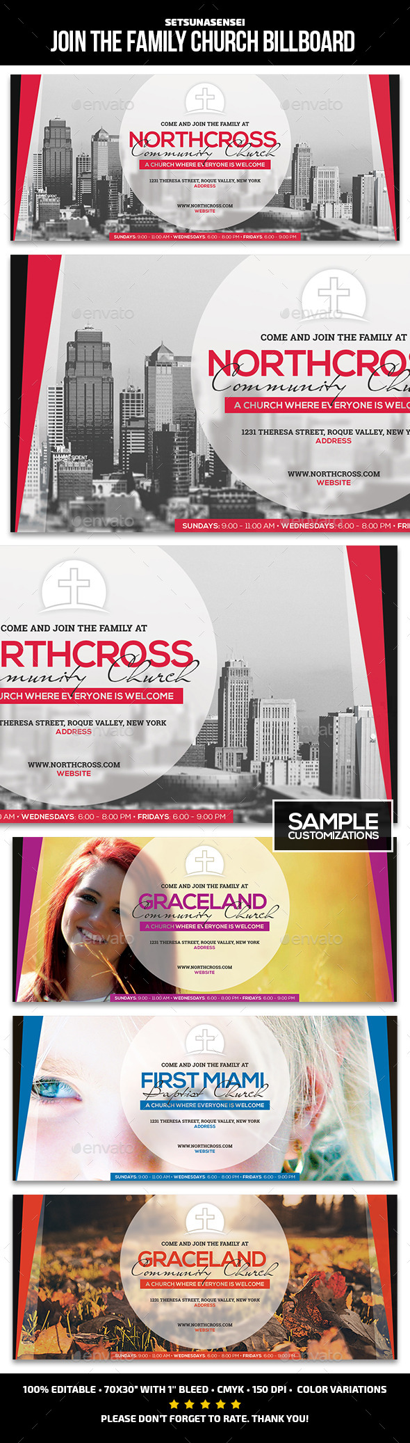 GraphicRiver Join the Family Church Billboard 9696247
