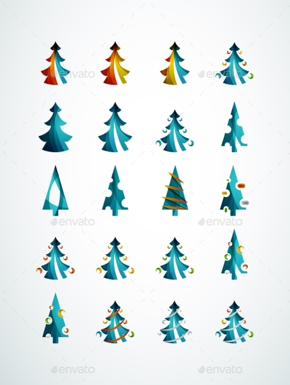 GraphicRiver Geometric Christmas Tree 9696530