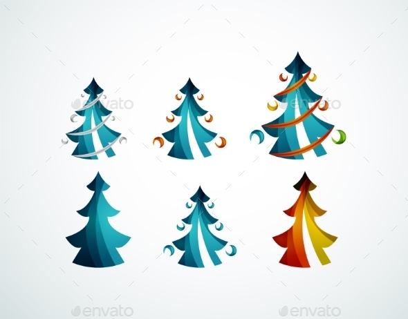 GraphicRiver Geometric Christmas Tree 9696532