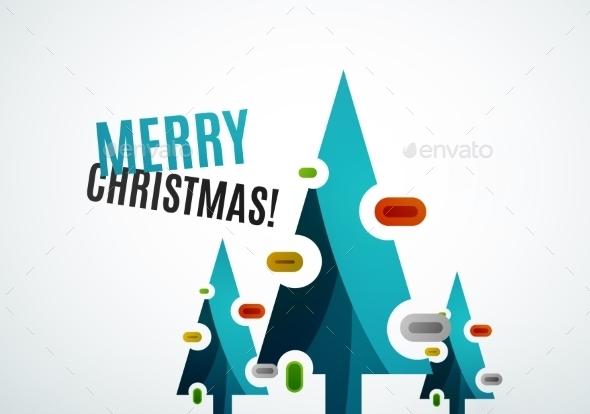 GraphicRiver Geometric Christmas Tree 9696534