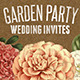 Rustic Garden Party Wedding Invitations - GraphicRiver Item for Sale