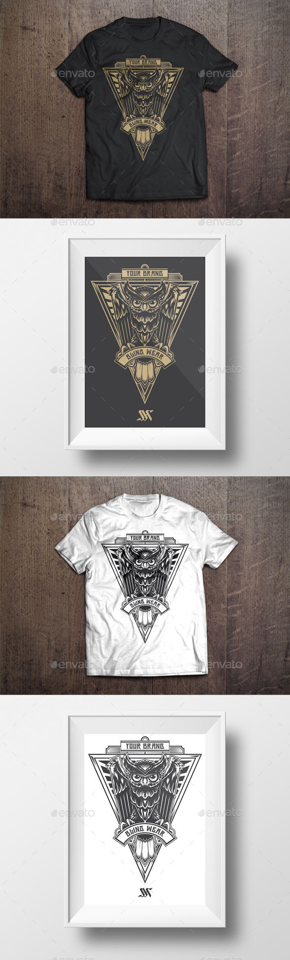 GraphicRiver T-Shirt Illustration Owl Theme 9696708
