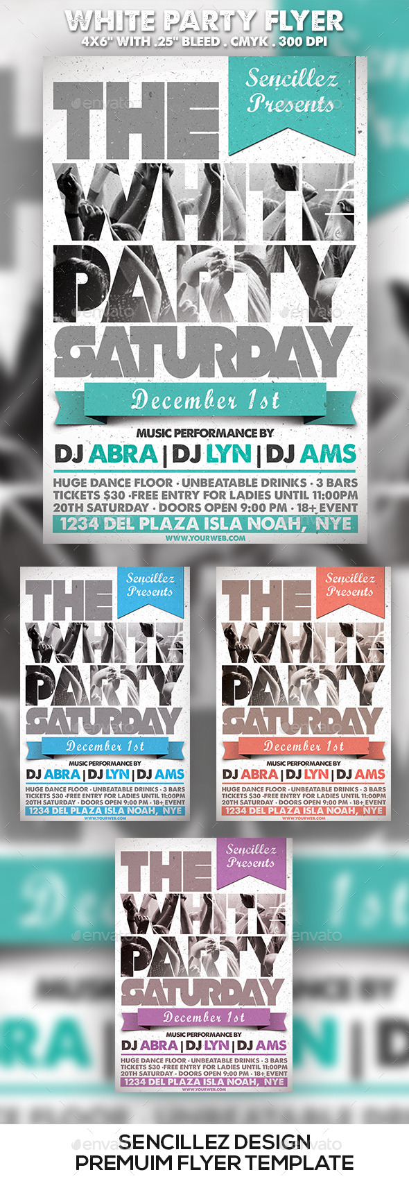 GraphicRiver White Party Flyer 9649656