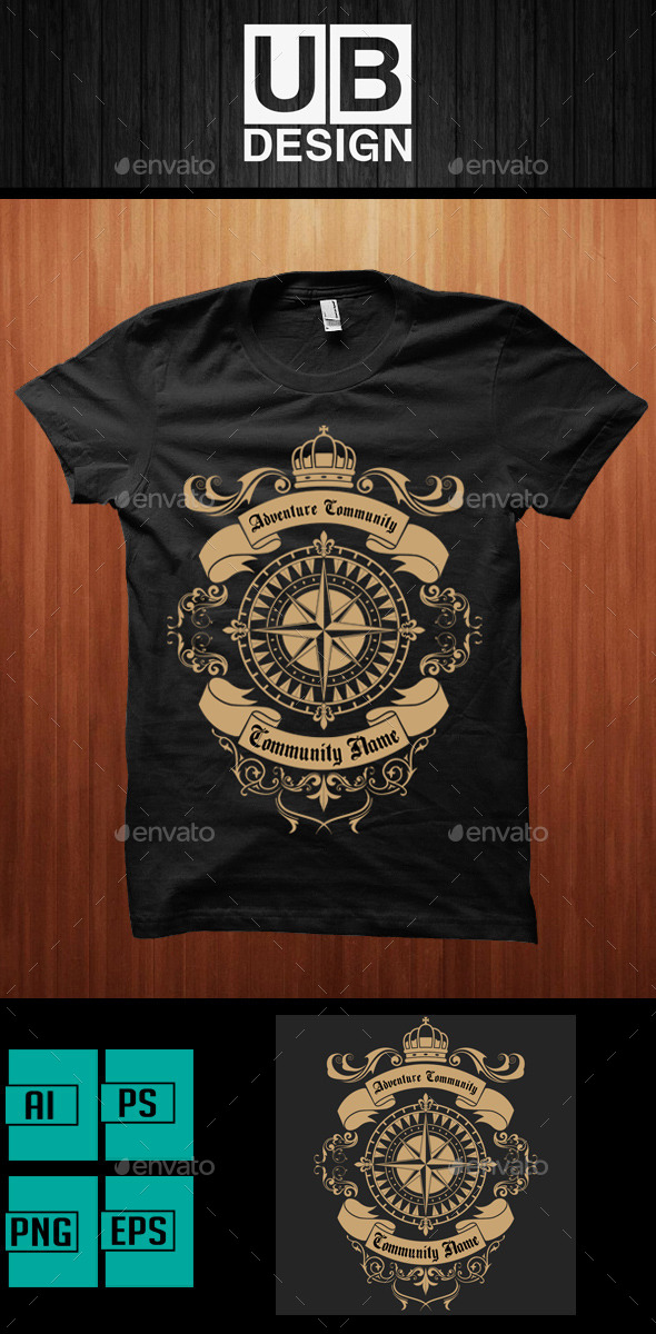 GraphicRiver Adventure Community Shirt 9697039