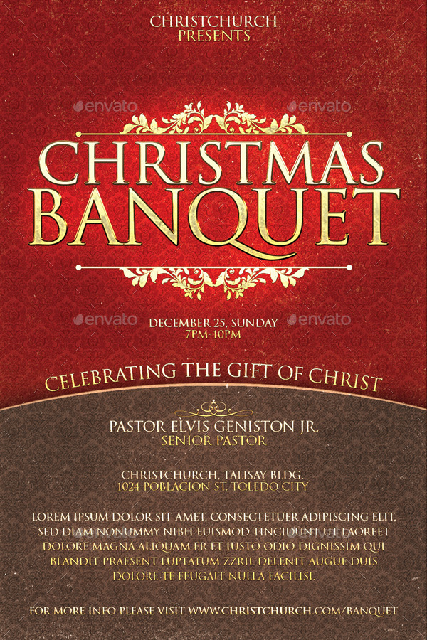 christmas banquet church flyer by deconstancio