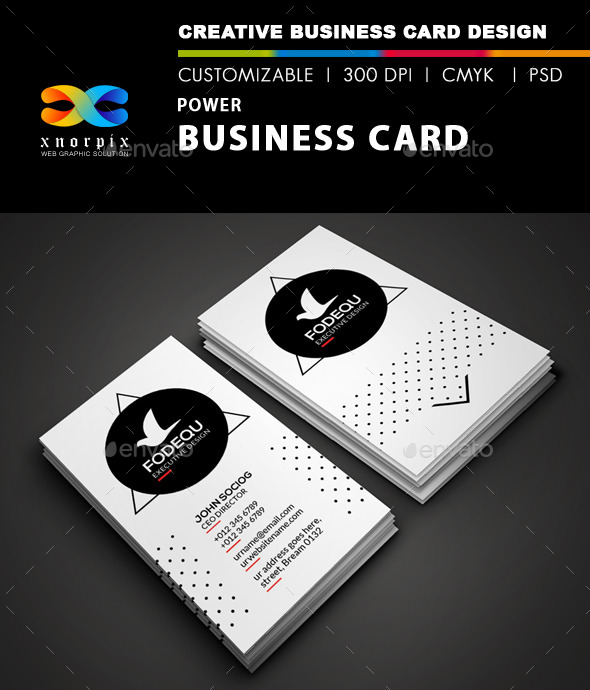 GraphicRiver Power Business Card 9697067