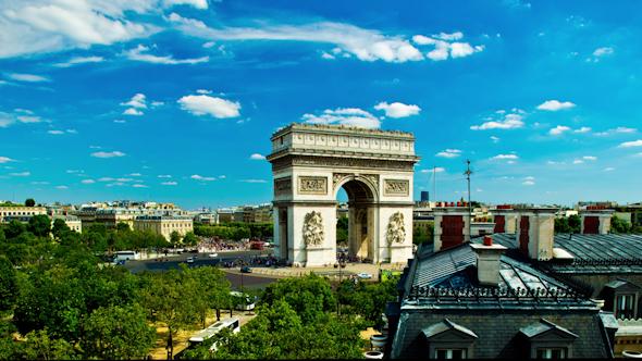VideoHive Arc Du Triomphe Paris France 9697072