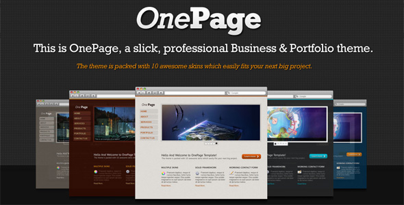 OnePage Creative, Portfolio & Corporate {10 in 1}