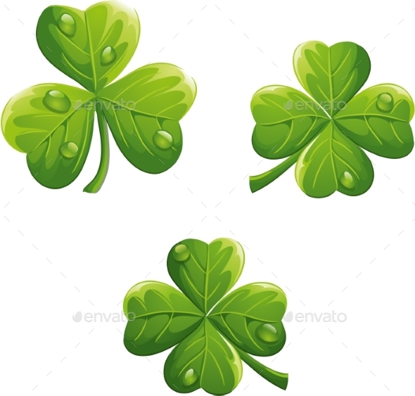 GraphicRiver St Patricks Day Clovers 9697216