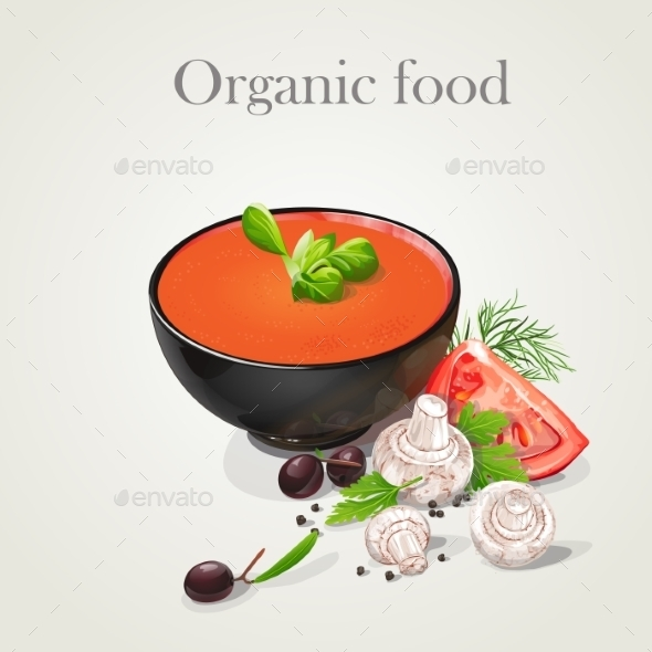 GraphicRiver Tomato Soup with Vegetables 9697314