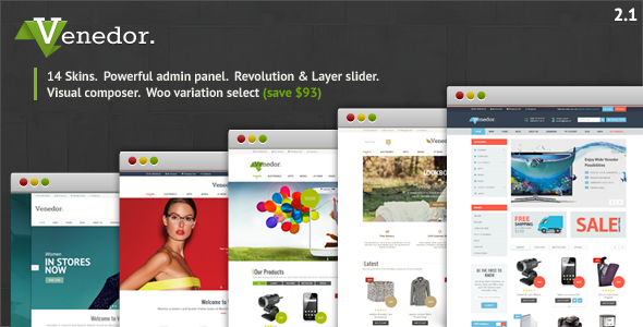 Venedor - Ultimate WordPress + WooCommerce Theme - WooCommerce eCommerce