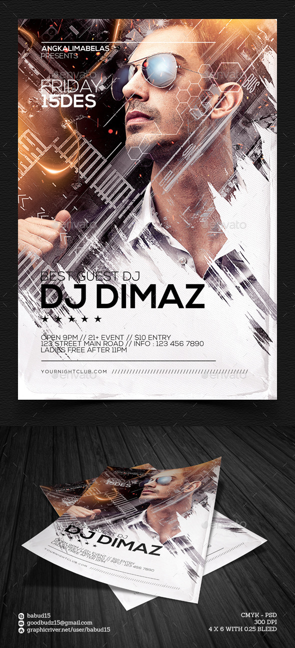 GraphicRiver Best Guest DJ Flyer Template 9697354