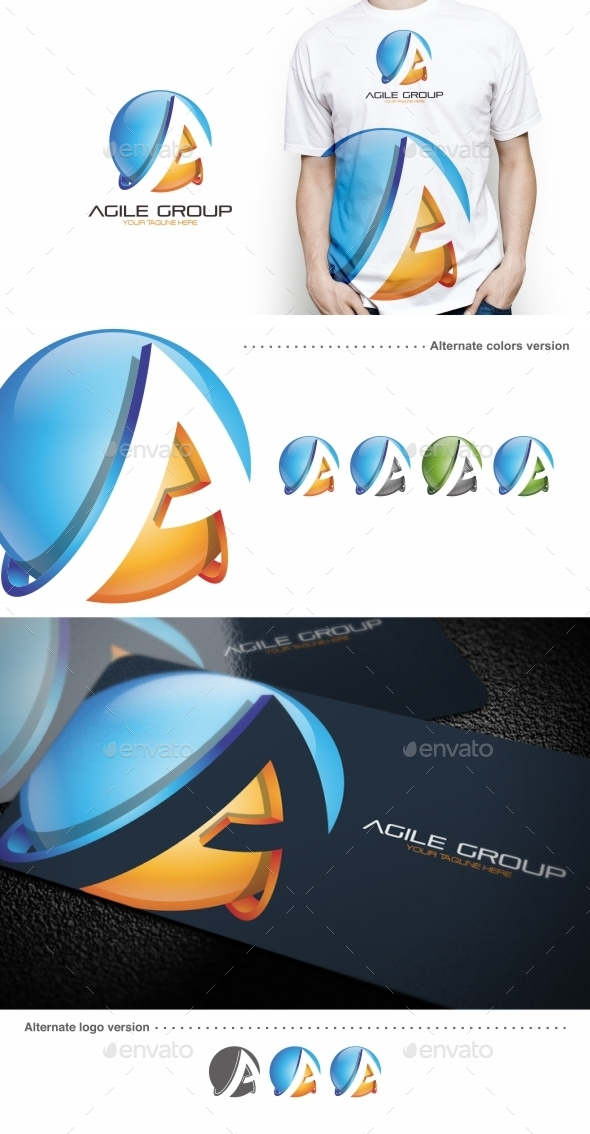 GraphicRiver Agile Group A Letter Logo Template 9618439