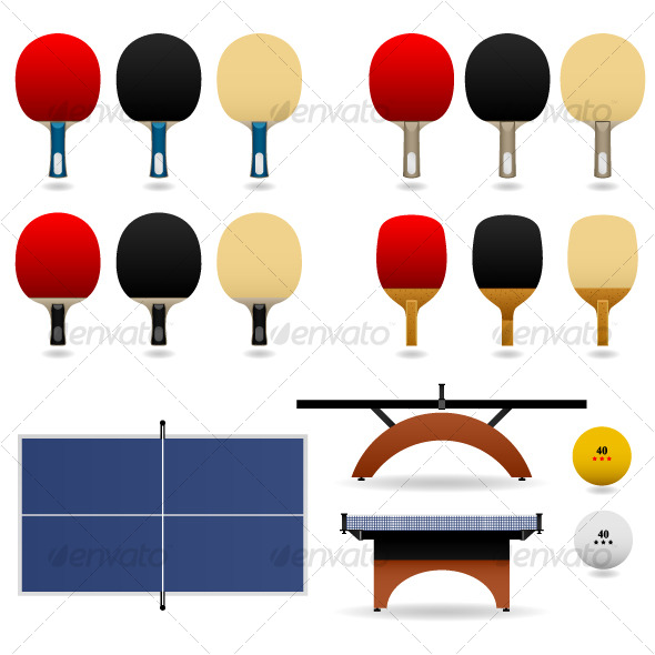 GraphicRiver Table Tennis Ping Pong Set Vector 123331
