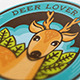 Deer Lover Logo Template - GraphicRiver Item for Sale