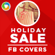 Holiday Sale Facebook Covers - 2 designs - GraphicRiver Item for Sale