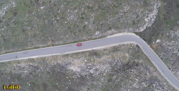 VideoHive Above a Car in Mountainous Landscape 2 9697780