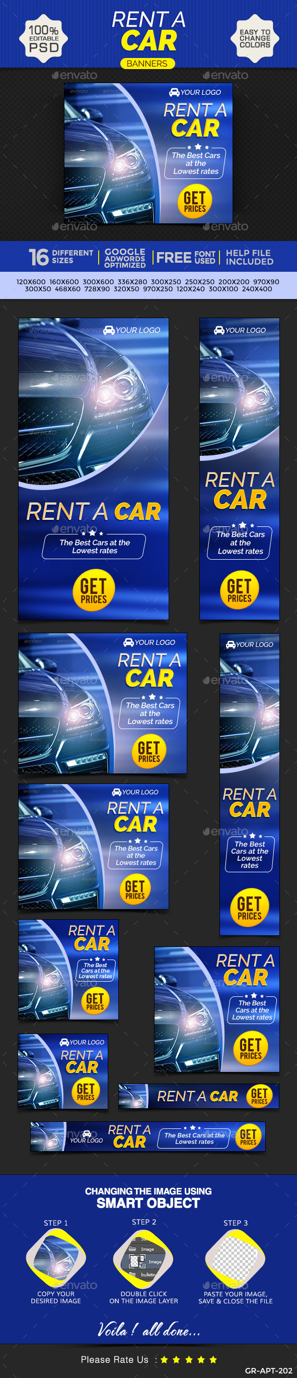 GraphicRiver Car Rental Banners 9697790