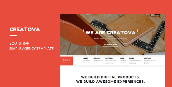 ThemeForest Creatova Bootstrap Agency Template 9648154