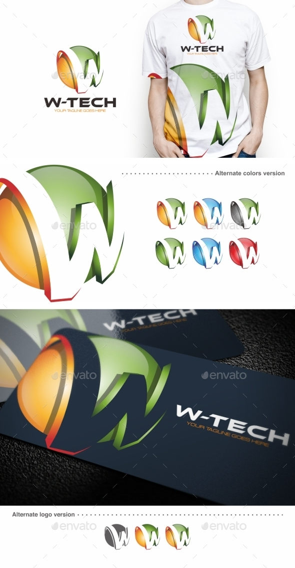 GraphicRiver W-tech W Letter Logo Template 9633234