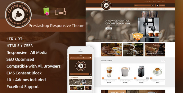 Coffee Prestashop Responsive Theme
