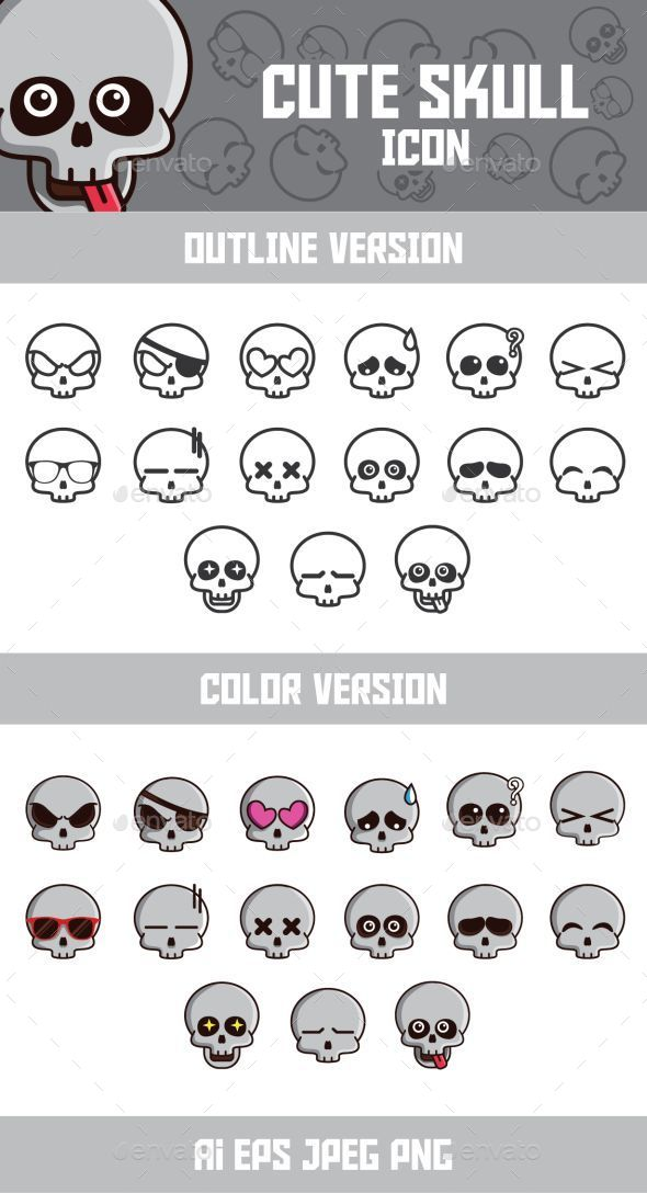GraphicRiver Funny Skull Emoticon 9698032
