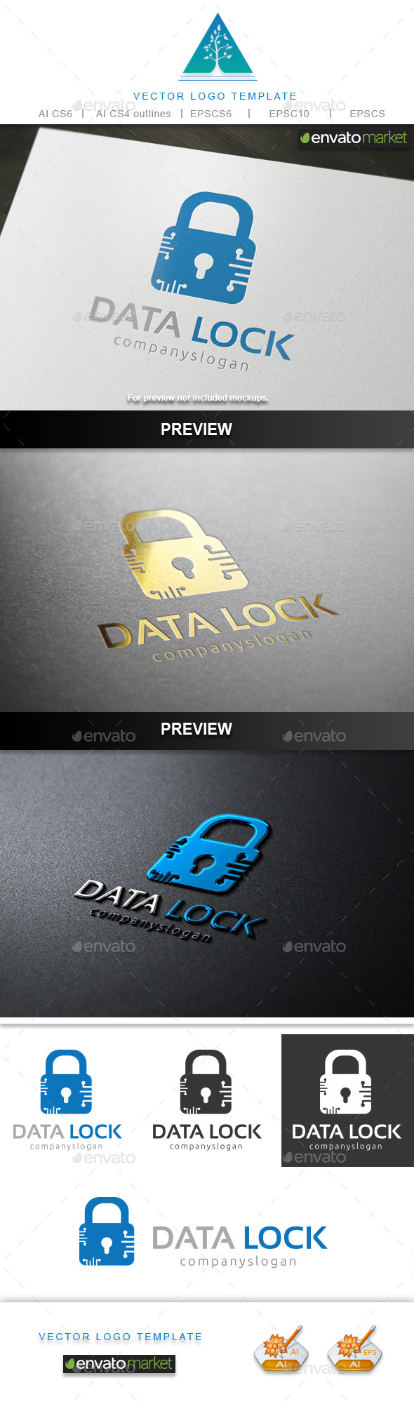 GraphicRiver Data Lock Logo 9698331