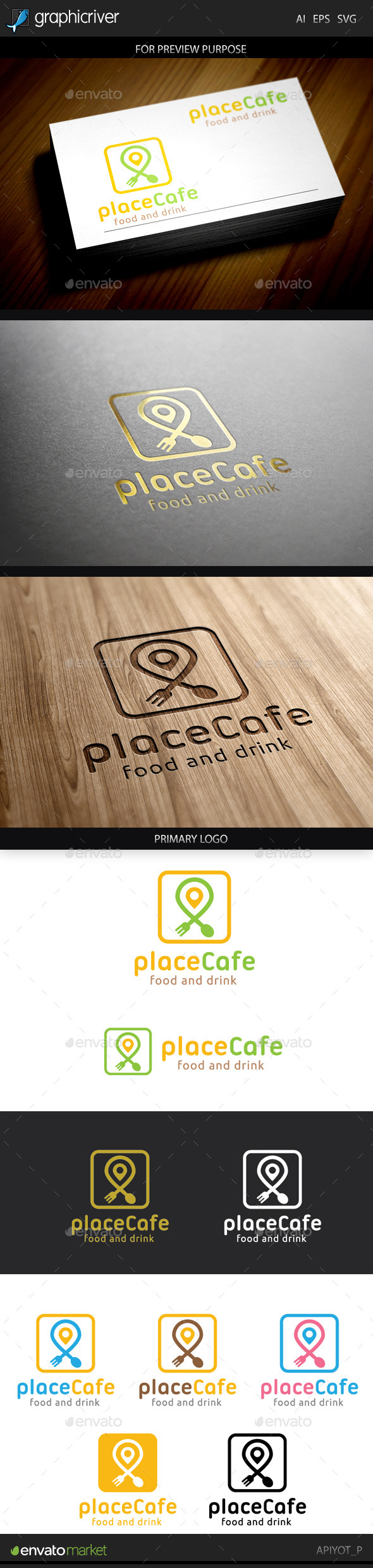 GraphicRiver Place Cafe Logo 9698375