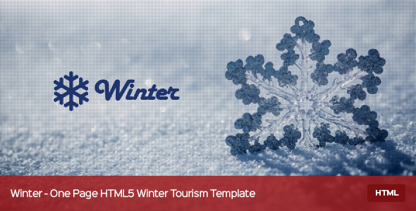 ThemeForest Winter One Page HTML5 Winter Tourism Template 9698396