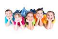 Five beautiful kids lying on the floor. - PhotoDune Item for Sale
